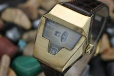 Vintage TECHNOS TENOR DORLY Automatic Digital Jump Hour G.F. Men's Dress Watch
