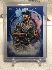 2019 Topps Inception Blue Clayton Kershaw #11/25