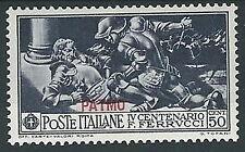 1930 EGEO PATMO FERRUCCI 50 CENT MH * - G030