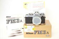 Nikon FM3 A Silver, solo corpo Scatolata con Documenti Condizioni Spettacolari