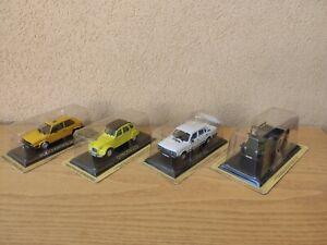 Lotto modellini Leggendary cars Fiat Campagnola,132,2cv,Volkwagen Golf 1/43