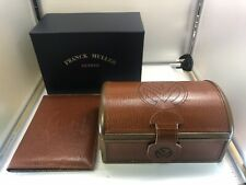 Genuine Frank Muller Conquistador watch box brown leather 0706002