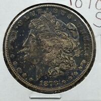 1878 S Morgan Silver Eagle Dollar Coin Choice AU About UNC Neat Toning Toner