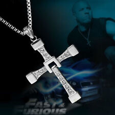Charm THE FAST and The FURIOUS Dominic Toretto's CROSS PENDANT Chain Necklace