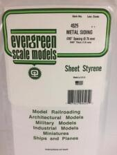 """.030"""" Opaque White Styrene Corrugated Siding by Evergreen Scale Models EVG4525"""