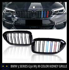 FOR BMW 5 SERIES G30 G31 G38 DOUBLE SLAT M5 M COLOR KIDNEY GRILLE