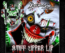 "TRAXXAS SLASH 4X4 GRAPHICS WRAP DECALS ""STIFF UPPER LIP"" FITS OEM BODY PARTS WHT"
