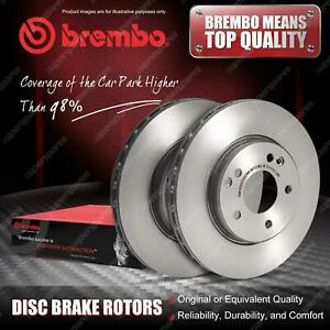 2x Rear Brembo Disc Rotors for Mercedes Benz Pagode W113 Saloon W123 SL 107