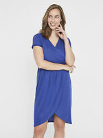 BNWT Mamalicious Nursing Breastfeeding Dress Jersey Blue Smart Evening Party
