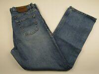 Mens Buffalo David Bitton 32x30 Blue 100% Cotton Straight Fit Denim Jeans