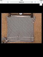 Ladies Black & White Stripe Bustier Tie Top. Taglia 14
