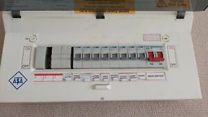 HAGER FUSE BOX with RCBOs USED