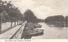 Postcard - The River and Terrace Bedford Bedfordshire posted 1910