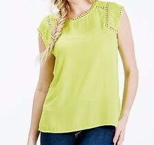 Darling Cap Sleeve Lime Top Size 14 BNWT