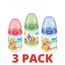 NUK Winnie The Pooh Bottle 150ml With 0-6 Months Orthodontic Teat Blue