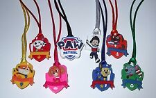 6 PAW PATROL PENDANT NECKLACE ON COLOR CORD PARTY FAVORS PRIZE GOODY BAG GIFT