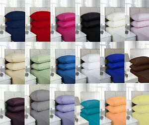 Charismatic Cotton 25cm Single Fitted Sheet Size Double Super King Pillow Cases