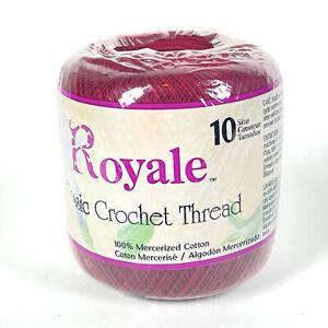 Royale Classic Crochet Thread Size 10 Cotton - Burgundy 492
