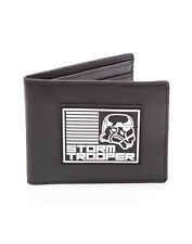 OFFICIAL STAR WARS - STORM TROOPER RUBBER PATCH BLACK BI-FOLD WALLET (BRAND NEW)