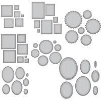 Cutting Dies Circle Rectangle Frame Set Stencil Handcraft Scrapbooking Album DIY