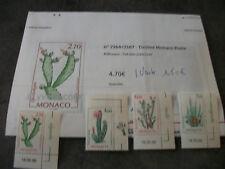 """1 LOT 4 TIMBRES NEUFS MONACO """"PLANTES GRASSES"""" (Y ET T N°2164/2167)1998"""