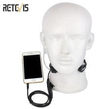 New R-151 1Pin Earpiece Covert Air Tube Headset Throat Mic PTT for Mobile Phone