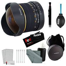 Rokinon 8mm Ultra Wide f/3.5 Fisheye Lens (FE8M-C, Canon EF Mount) + Accessories