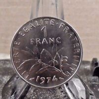 CIRCULATED 1974 1 FRANC FRENCH COIN (020417)1