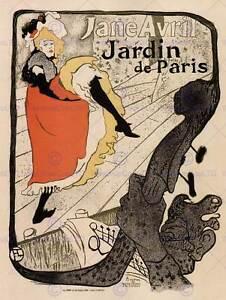 JANE AVRIL TOULOUSE- LAUTREC FRANCE VINTAGE POSTER ART PRINT 12x16 inch 924PY