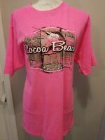 NWT U.S. Vintage PINK Shirt Cocoa Beach XL Florida Tee Souvenir T- shirt