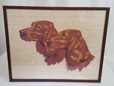 Vtg Silk Screen Painting Cocker Spaniels Kelleher Art Studio Janesville WI Frame