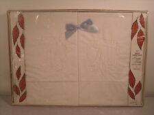 New listing Vintage His & Hers Embroidered Pillowcase Gift Set Luxury Percale by Gloria Gray