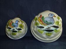 2 x uralte Keramik PUDDINGFORM/ BUTTER-FORM Frankreich SHABBY CHIC Landhaus Stil