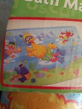 New listing Sesame Street Elmo Cookie Monster No Slip Bath Tub Mat Nos Free Ship