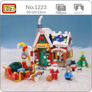 LOZ Merry Christmas House Tree Santa Claus Snowman DIY Mini Blocks Building Toy