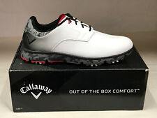 "NEW Callaway LaJolla White/Black/Red ""Waterproof"" Men's Golf Shoes 10.5M"