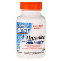 Doctor s Best Suntheanine L-Theanine 150 mg 90 Veggie Caps Gluten-Free, Vegan