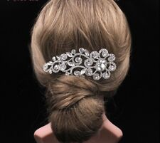 Silver Rhinestone Tiara Headpiece Wedding Accessory Headband Hair Clip Comb