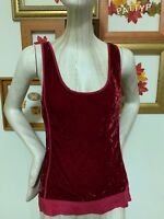 Tank Top Velveteen by JAG - Red - Size M