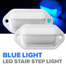2*LED 12V Exterior Stair Step Light RV Boat Deck Walkway Corridor Yard Lamp Blue
