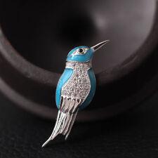 Kleine Brosche Eisvogel Blau echt Sterling Silber 925 Zirkonia Damen