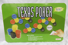 Texas Poker Set in a Tin - BNIB - Unused