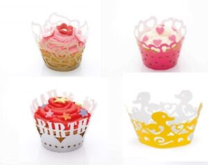 Kitchen Craft Pack 12 Cup Cake Decorating Wraps Wrappers Easy Fit