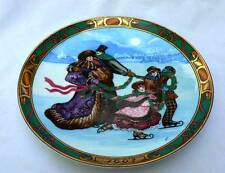 Royal Copenhagen Porcelain Ltd Ed Christmas In Denmark Skating Party Plate 1993
