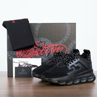 VERSACE 995$ Women's Chain Reaction Sneakers In Black