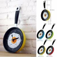Pan Clock Home Creative Happy Time Omelette Pan Wall Clock Fried Egg Clock