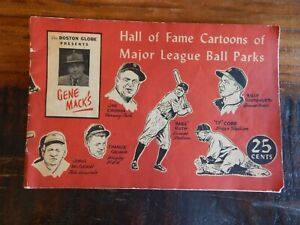 1947 BALL PARKS HALL OF FAME CARTOON MAGAZINE BOOK COBB RUTH EBBETS POLO GROUNDS