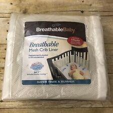 BreathableBaby Breathable Mesh Crib Liner Cream Bumper Unused