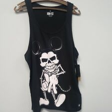 Mickey mouse Skull Tattoo Vest Top S Black Skeleton Gothic Mans