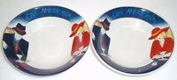 SET OF 2 Sango   Cafe Americana  SOUP / CEREAL  BOWLS    7 3/4  inches  across